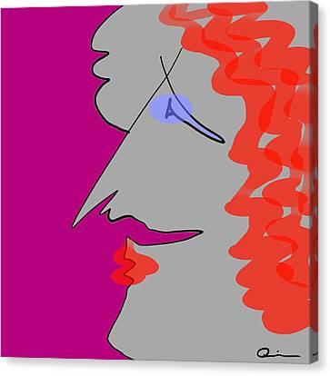 Purple Stache Canvas Print