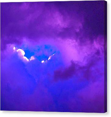 Purple Storm Canvas Print by Gwyn Newcombe