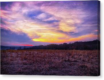 Purple Sunset At Retzer Nature Center Canvas Print by Jennifer Rondinelli Reilly - Fine Art Photography