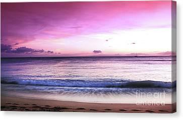 Canvas Print - Purple Sunset by Kristine Merc
