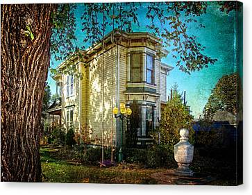 House With The Purple Swing Canvas Print