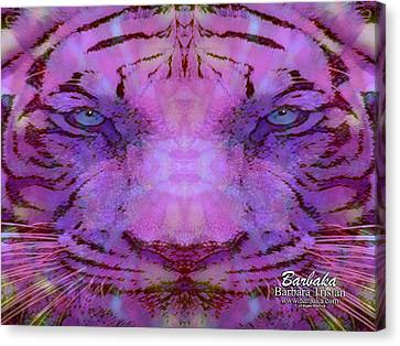 Canvas Print featuring the photograph Purple Tiger by Barbara Tristan