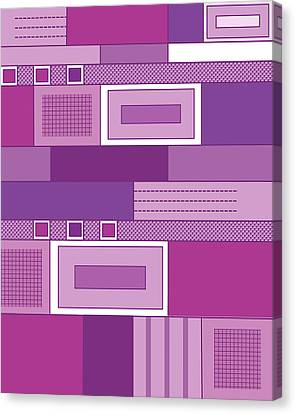Purple Time Canvas Print