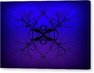 Purple Tree Haze Canvas Print by John Williams