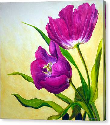 Purple Tulips Canvas Print by Scott Gordon