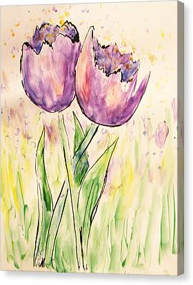 Canvas Print - Purple Tulips by Tina Sheppard