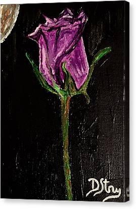 Purple Under The Moon's Glow Canvas Print