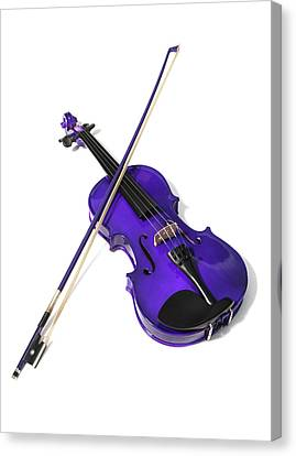 Purple Violin Canvas Print