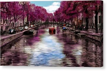 Purple Water Canvas Print