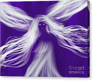 Purple Woods Faerie Canvas Print