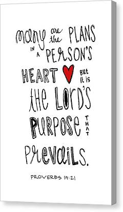 Purpose Canvas Print by Nancy Ingersoll