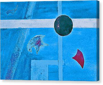 Purposphere Gone Blue Canvas Print