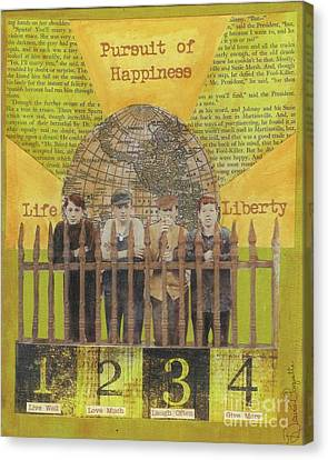 Canvas Print featuring the mixed media Pursuit Of Happiness by Desiree Paquette