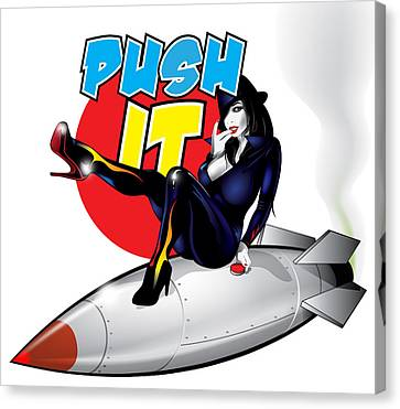 Push It Canvas Print by Brian Gibbs
