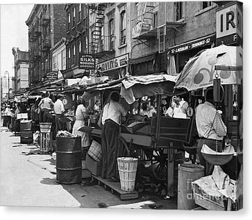 Pushcart Market, 1939 Canvas Print by Granger