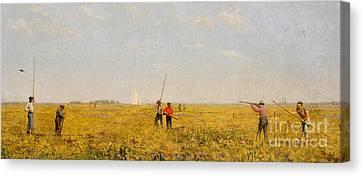 Pushing For Rail, 1874 Canvas Print