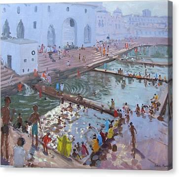 Pushkar Ghats Rajasthan Canvas Print