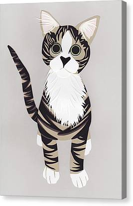 Pussycat Canvas Print by Isobel Barber