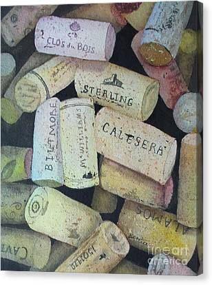 Put A Cork In It Canvas Print by Kathy Staicer
