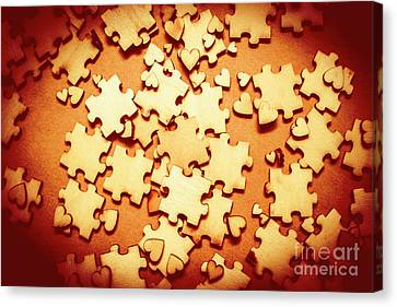 Puzzle Of Love Canvas Print