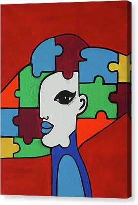 Puzzle Canvas Print by Tatiana Sokolova