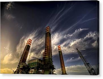 Pylons Canvas Print by Wayne Sherriff