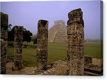 Pyramid At Chichen Itza Canvas Print