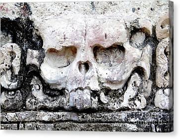 Canvas Print - Pyramid Detail Palenque Chiapas Mexico by Linda Queally