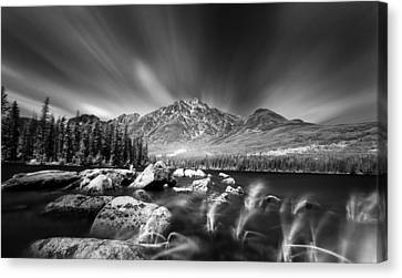 Pyramid Lake Rocky Shores Canvas Print by Ian MacDonald