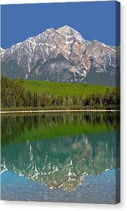 Pyramid Mountain Reflection Canvas Print