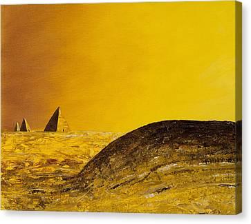 Pyramid Oil Canvas Print