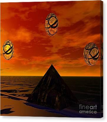 Cryptic Canvas Print - Five Horizons by MyndVu