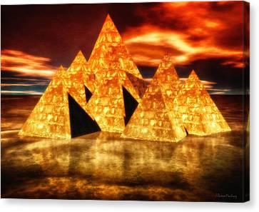 Pyramids In Warm Tones Canvas Print