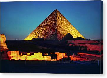 Pharaoh Canvas Print - Pyramids Of Giza by Steve Harrington