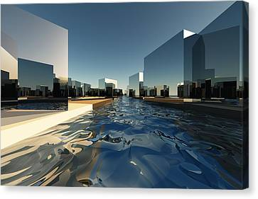 Q-city Two Canvas Print by Max Steinwald