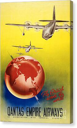 Qantas Airlines Canvas Print by Pd