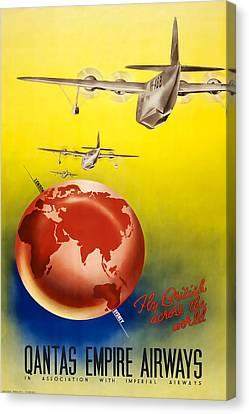Qantas Empire Airways Canvas Print by David Wagner