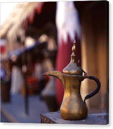 Qatar Welcome Canvas Print by Paul Cowan