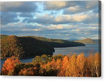 Quabbin Reservoir Foliage View Canvas Print by John Burk