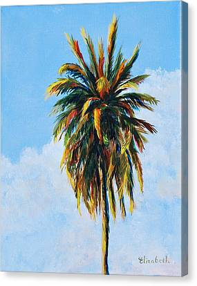 Quad Palms 4 Of 4 Canvas Print by Beth Maddox