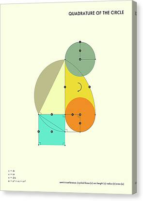Geometric Canvas Print - Quadrature Of The Circle by Jazzberry Blue