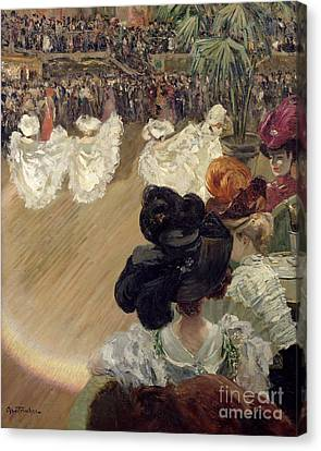 Quadrille At The Bal Tabarin Canvas Print by Abel-Truchet