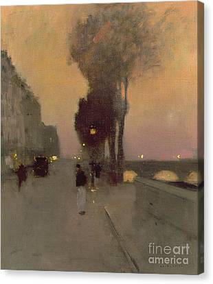 Quai Bourbon, Paris Canvas Print by Luigi Loir