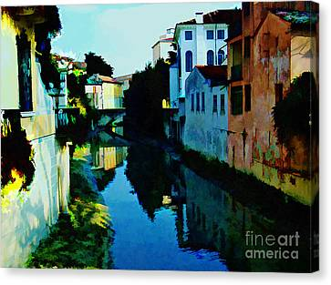 Canvas Print featuring the photograph Quaint On The Canal by Roberta Byram