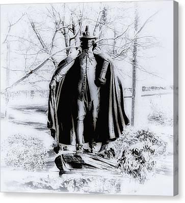 Quaker Pilgrim Canvas Print by Bill Cannon