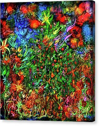 Canvas Print featuring the digital art Qualia's Christmas by Russell Kightley