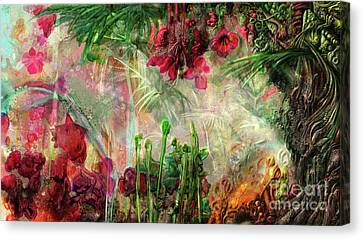 Canvas Print featuring the digital art Qualia's Jungle by Russell Kightley