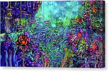 Canvas Print featuring the digital art Qualia's Reef by Russell Kightley
