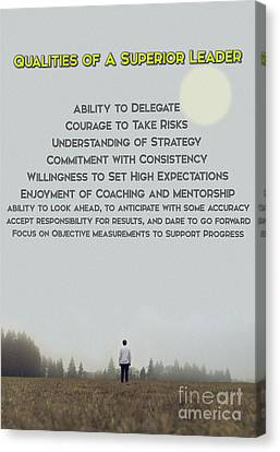 Qualities Of Superior Leaders Canvas Print