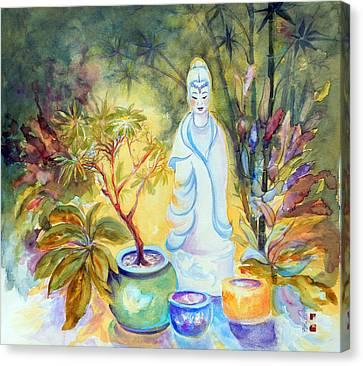 Quan Yin Garden Canvas Print